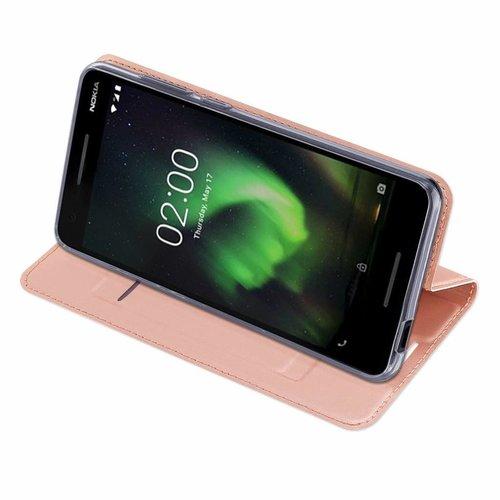 Dux Ducis Nokia 2.1 hoesje - Dux Ducis Skin Pro Book Case - Roze