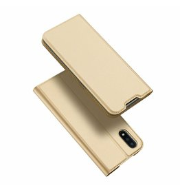 Dux Ducis Samsung Galaxy A01 case - Dux Ducis Skin Pro Book Case - Gold