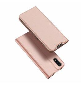 Dux Ducis Samsung Galaxy A01 case - Dux Ducis Skin Pro Book Case - Rosé Gold