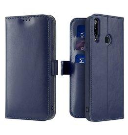 Dux Ducis Samsung Galaxy A20s telefoonhoesje - Dux Ducis Kado Wallet Case - Blue