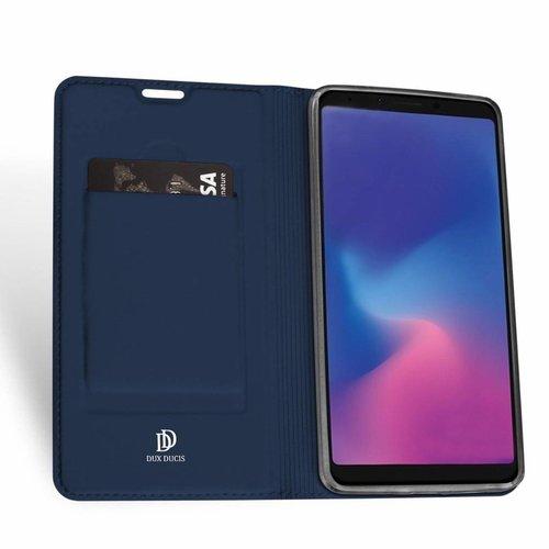 Dux Ducis Samsung Galaxy A6s hoesje - Dux Ducis Skin Pro Book Case - Blauw