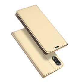 Dux Ducis Samsung Galaxy M10 case - Dux Ducis Skin Pro Book Case - Gold
