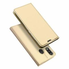 Samsung Galaxy M20 case - Dux Ducis Skin Pro Book Case - Gold