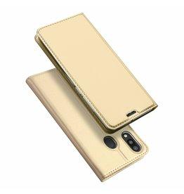 Dux Ducis Samsung Galaxy M20 case - Dux Ducis Skin Pro Book Case - Gold