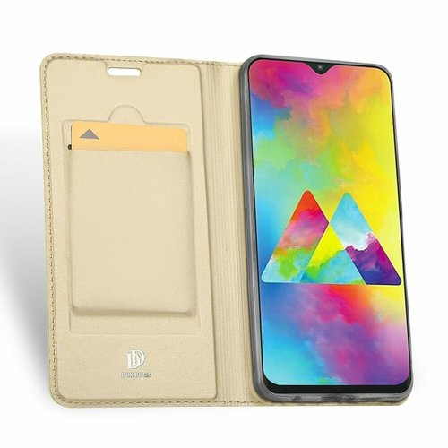 Dux Ducis Samsung Galaxy M20 hoesje - Dux Ducis Skin Pro Book Case - Goud