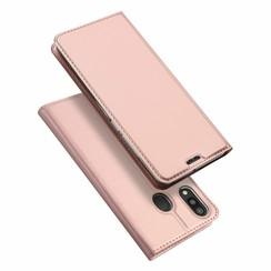 Samsung Galaxy M20 case - Dux Ducis Skin Pro Book Case - Rosé-Gold