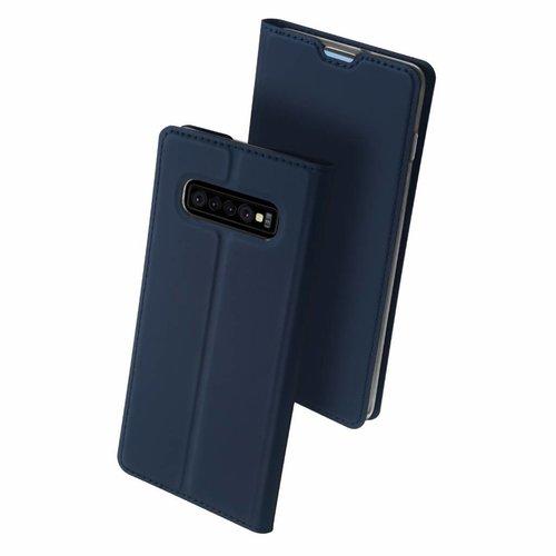 Dux Ducis Samsung Galaxy S10 hoesje - Dux Ducis Skin Pro Book Case - Blauw