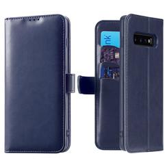 Samsung Galaxy S10 Plus case - Dux Ducis Kado Wallet Case - Blue