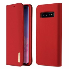 Samsung Galaxy S10 Plus case - Dux Ducis Wish Wallet Book Case - Red