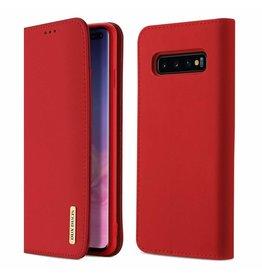 Dux Ducis Samsung Galaxy S10 Plus case - Dux Ducis Wish Wallet Book Case - Red