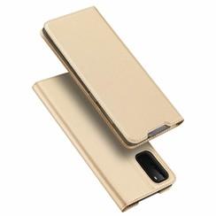 Samsung Galaxy S20 hoesje - Dux Ducis Skin Pro Book Case - Goud