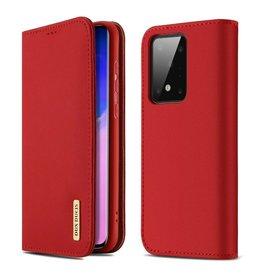 Dux Ducis Samsung Galaxy S20 Ultra case - Dux Ducis Wish Wallet Book Case - Red