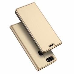 Vivo X20 case - Dux Ducis Skin Pro Book Case - Gold