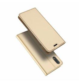 Dux Ducis Vivo X21 case - Dux Ducis Skin Pro Book Case - Gold
