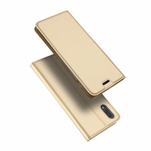 Dux Ducis Vivo X21 hoesje - Dux Ducis Skin Pro Book Case - Goud