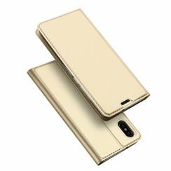 Xiaomi Mi 8 Pro case - Dux Ducis Skin Pro Book Case - Gold