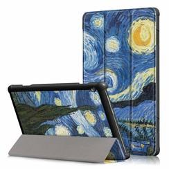 Lenovo Tab M10 Plus hoes  - Tri-Fold Book Case (TB-X606) - Sterrenhemel
