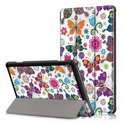 Lenovo Tab M10 Plus case  - Tri-Fold Book Case (TB-X606) - Butterflies