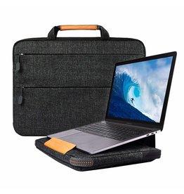WIWU WIWU - Laptop sleeve 15.4 inch - Smart Stand Laptoptas - Zwart