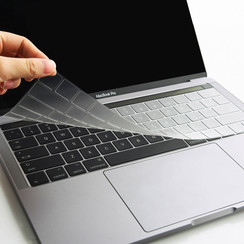 WiWu - Apple MacBook Pro 13 inch (met Touch Bar) - Toetsenbord  cover beschermer - TPU keyboard protector - Transparant