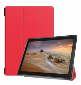 Case2go Lenovo Tab E10 hoes (TB-X104f) - Tri-Fold Book Case - Red