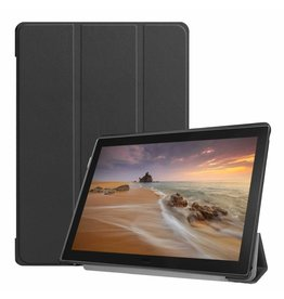 Case2go Lenovo Tab E10 hoes (TB-X104f)  - Tri-Fold Book Case - Black