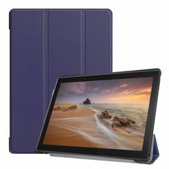 Lenovo Tab E10 hoes  (TB-X104f) - Tri-Fold Book Case - Donker Blauw