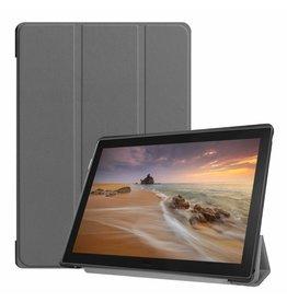 Case2go Lenovo Tab E10 hoes (TB-X104f) - Tri-Fold Book Case - Grey