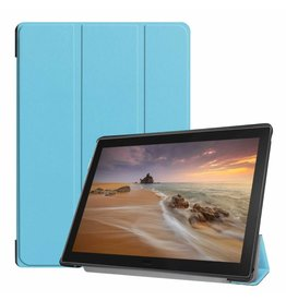 Case2go Lenovo Tab E10 hoes (TB-X104f) - Tri-Fold Book Case - Light Blue