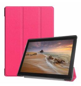 Case2go Lenovo Tab E10 Hoes (TB-X104f) - Tri-Fold Book Case - Magenta