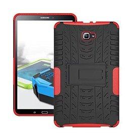 Case2go Samsung Galaxy Tab A 10.1 (2016/2018) Schokbestendige Back Cover Rood