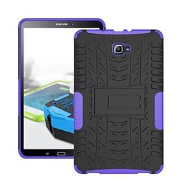 Case2go Samsung Galaxy Tab A 10.1 (2016/2018) Schokbestendige Back Cover Paars