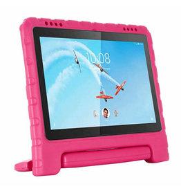 Case2go Lenovo Tab E10 hoes - Schokbestendige Case met handvat - Magenta