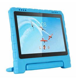 Case2go Lenovo Tab E10 hoes - Schokbestendige Case met handvat - Licht Blauw