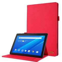 Lenovo Tab E10 hoes - Book Case met Soft TPU houder - Rood