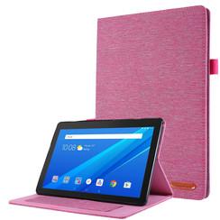Lenovo Tab E10 hoes - Book Case met Soft TPU houder - Roze