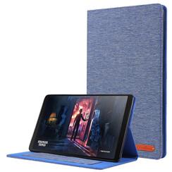 Samsung Galaxy Tab A 10.1 (2019) hoes - Book Case met Soft TPU houder - Blauw