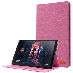 Samsung Galaxy Tab A 10.1 (2019) hoes - Book Case met Soft TPU houder - Roze