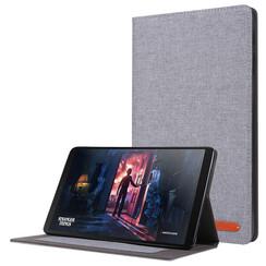 Samsung Galaxy Tab A 10.1 (2019) hoes - Book Case met Soft TPU houder - Grijs