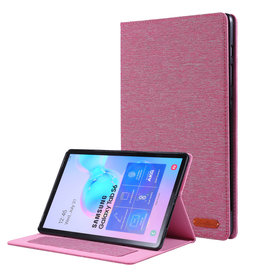 Case2go Samsung Galaxy Tab S6 hoes - Book Case met Soft TPU houder - Roze