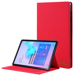 Samsung Galaxy Tab S6 hoes - Book Case met Soft TPU houder - Rood