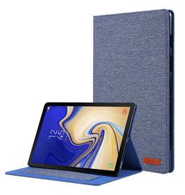 Case2go Samsung Galaxy Tab S5e hoes - Book Case met Soft TPU houder - Blauw