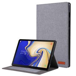 Samsung Galaxy Tab S5e hoes - Book Case met Soft TPU houder - Grijs