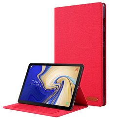 Samsung Galaxy Tab S5e hoes - Book Case met Soft TPU houder - Rood