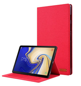 Case2go Samsung Galaxy Tab S5e hoes - Book Case met Soft TPU houder - Rood