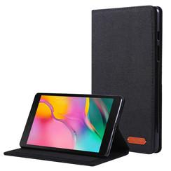 Samsung Galaxy Tab A 8.0 (2019) hoes - Book Case met Soft TPU houder - Zwart