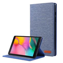 Samsung Galaxy Tab A 8.0 (2019) hoes - Book Case met Soft TPU houder - Blauw