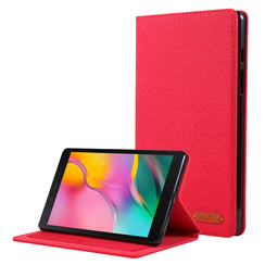 Samsung Galaxy Tab A 8.0 (2019) hoes - Book Case met Soft TPU houder - Rood