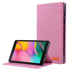 Samsung Galaxy Tab A 8.0 (2019) hoes - Book Case met Soft TPU houder - Roze