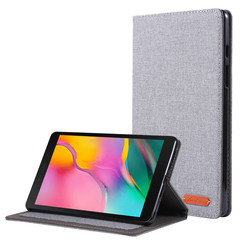 Samsung Galaxy Tab A 8.0 (2019) hoes - Book Case met Soft TPU houder - Grijs